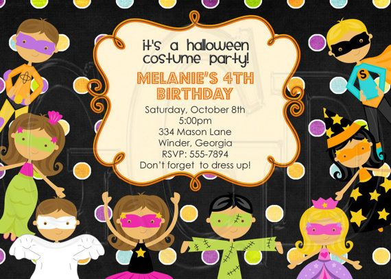 possible invitation 1 birthday party Pinterest Halloween