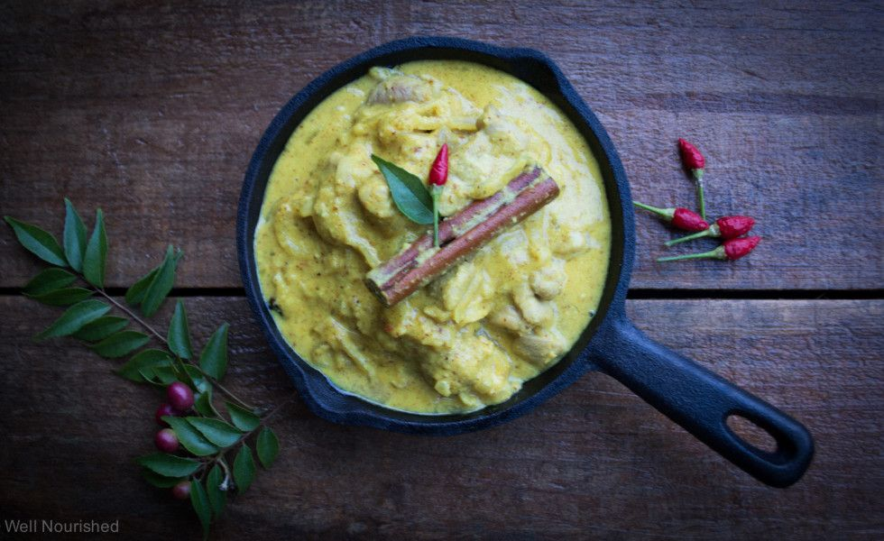 Chicken and almond curry well nourished Whole food