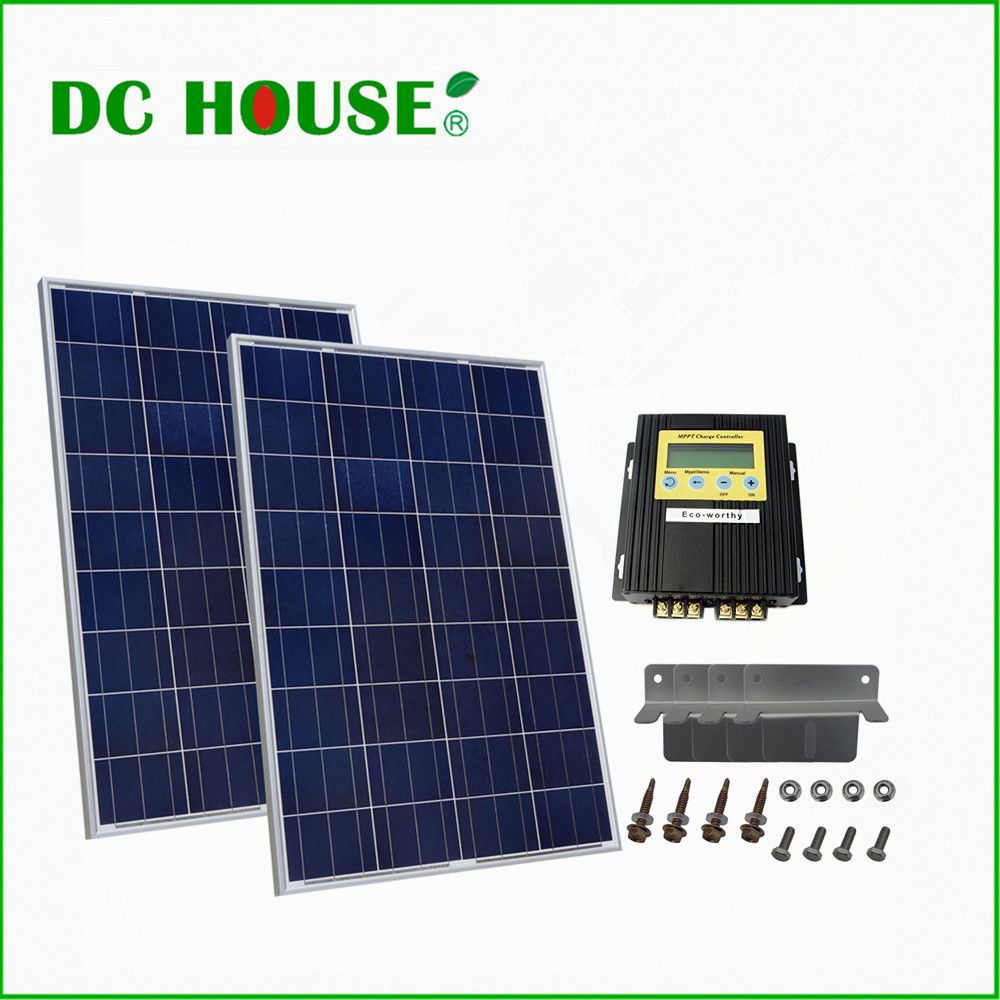 Dc House De Stock Complete Kit 200w 2x 100w Pv Solar Panel For 12v 24v Rv Boat Solar System Free Shipping Solar Panels Solar Pv Panel Solar