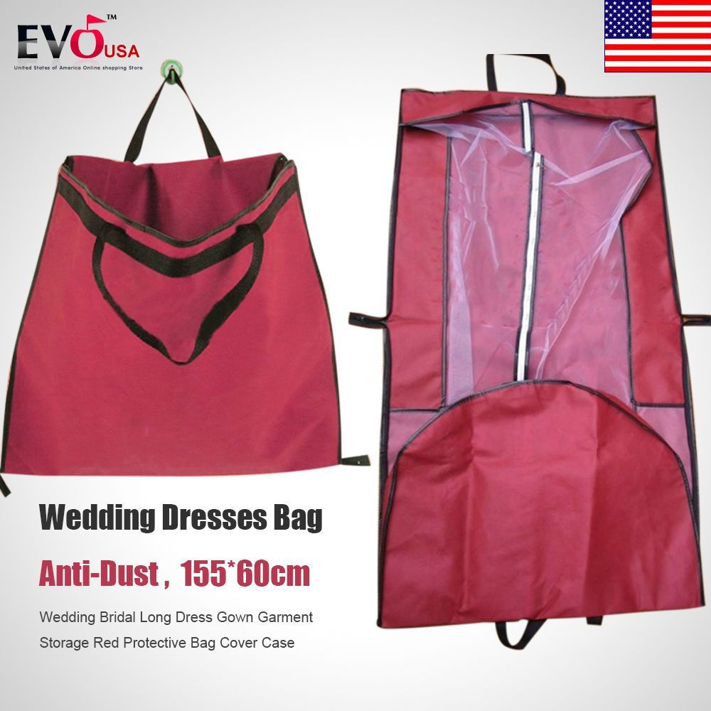 Wedding Bridal Long Dress Gown Garment Storage Protective Bag Cover ...