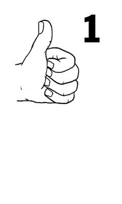 Parmak Isaretiyle Gosterilen Sayi Boyama Sayfalari Matematik