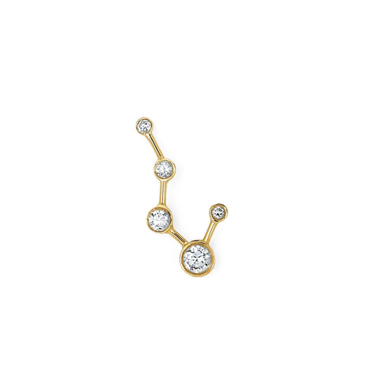 Single diamond big dipper earring diamond jewellery pinterest