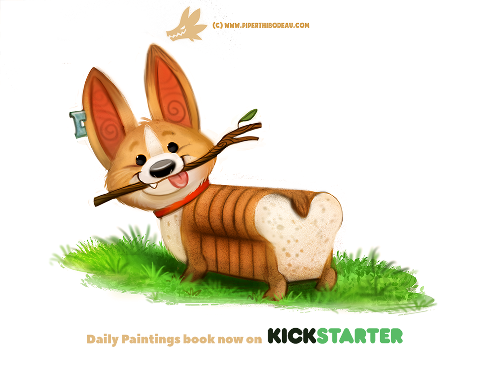 Daily Paint 1311. Pure Bread by Cryptid-Creations.deviantart.com on @DeviantArt