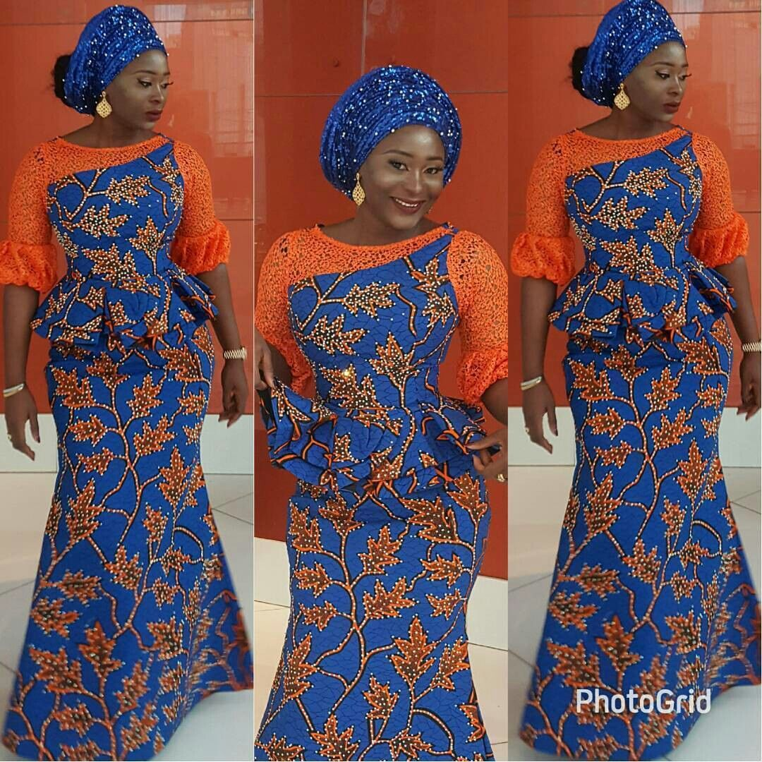 African print dresses for weddings  Ankara  Lace  Things to Wear  Pinterest  Ankara Lace and Africans