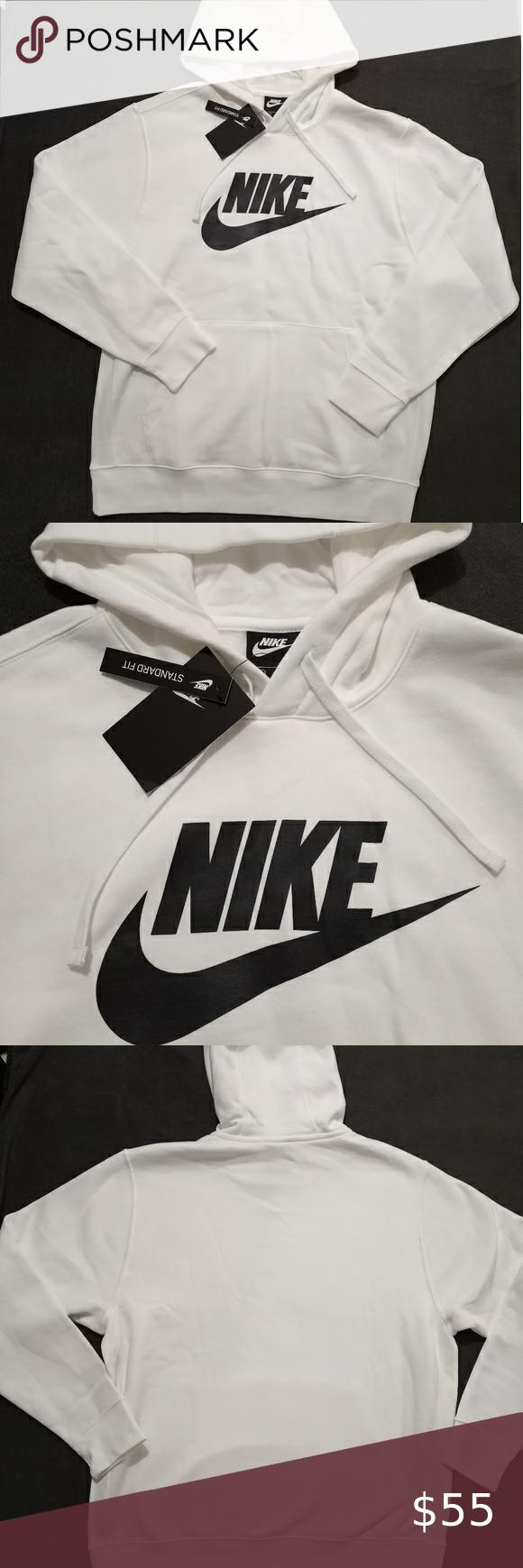 Nike Mens Hoodie Sweatshirt White Black Large Mens Sweatshirts Hoodie Sweatshirts Hoodie Hoodies Men [ 1740 x 580 Pixel ]