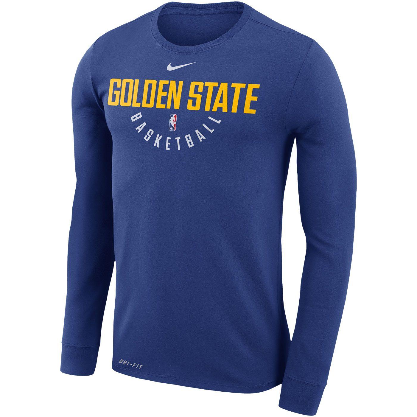 36c24c1ab2d Golden State Warriors Nike Dri-FIT Men's Long Sleeve Practice Tee - Royal