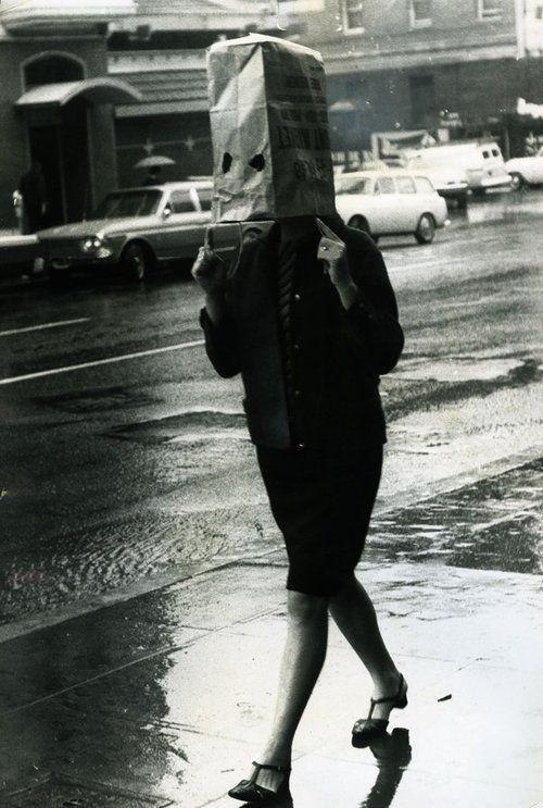 piove senza ombrello