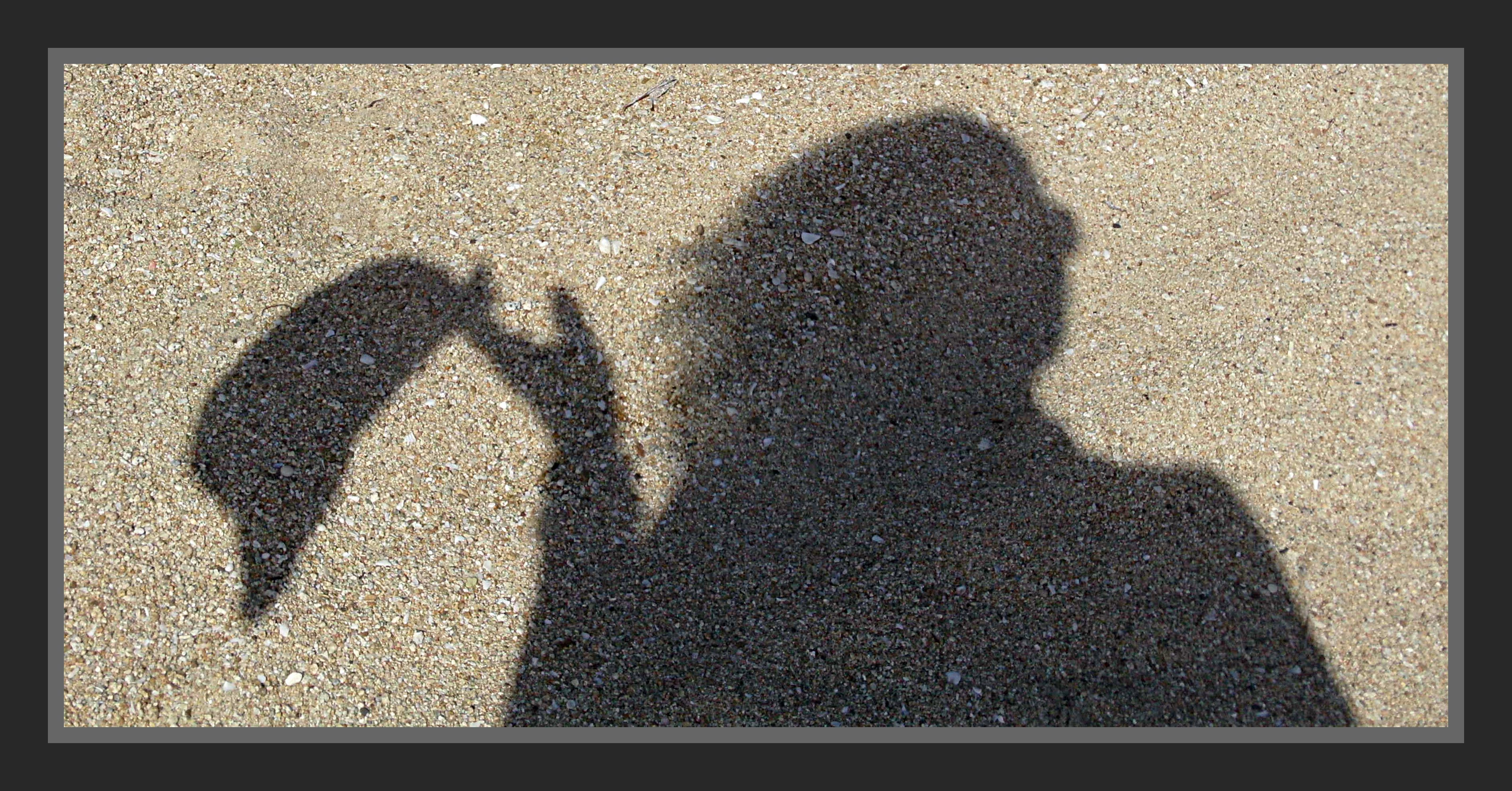 I did this photo of my shadow on the beach. You should try it when at the beach.