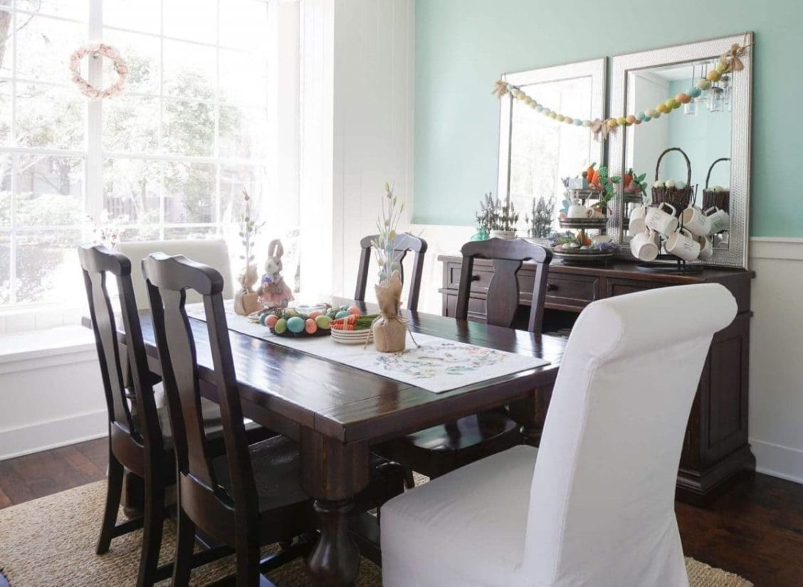 A Simple Spring Dining Room Dining Room Paint Colors Diy Dining