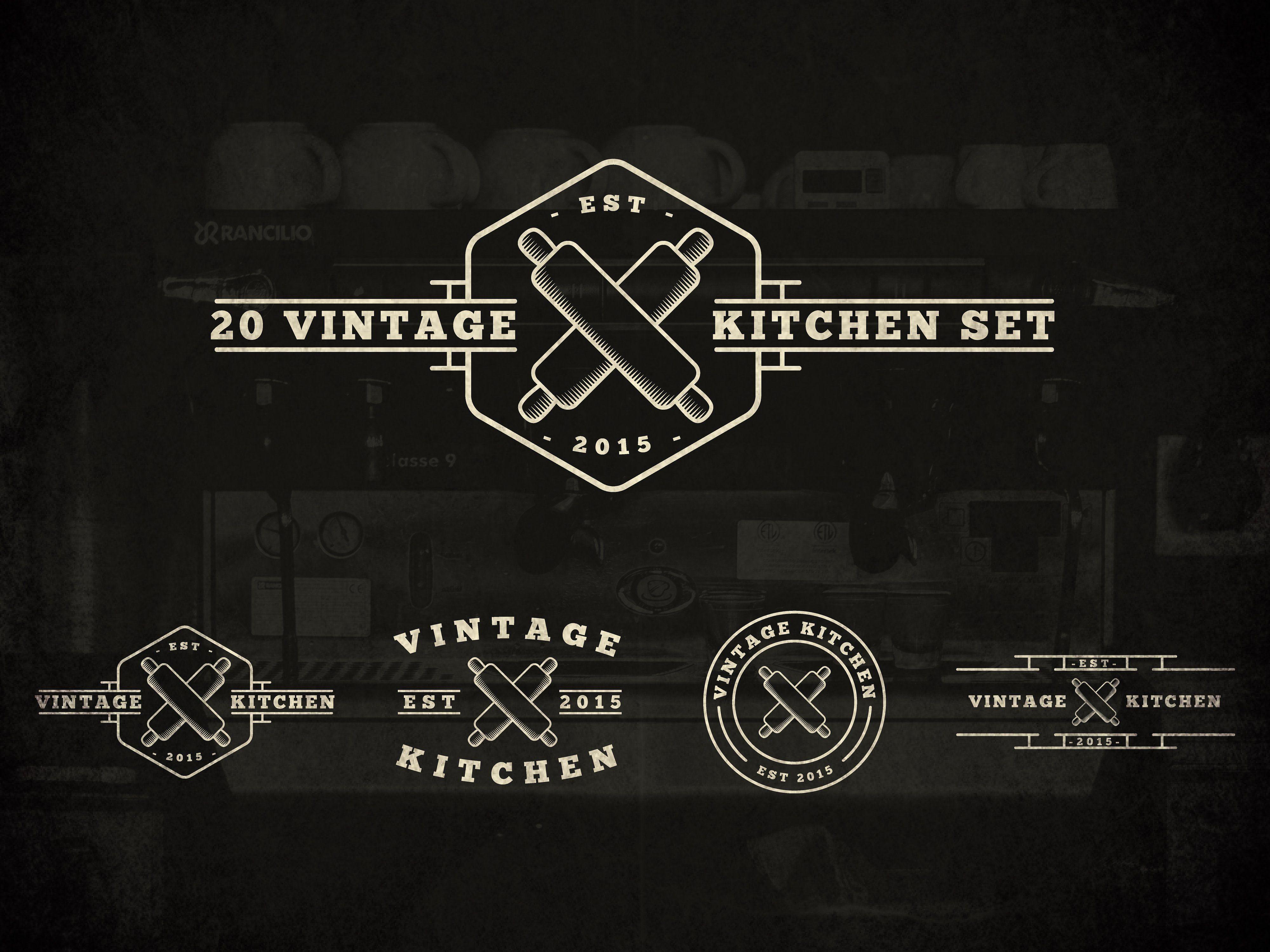 20 Vintage Kitchen Logos Kitchen Logo Minimalist Decor Vintage Logo Design