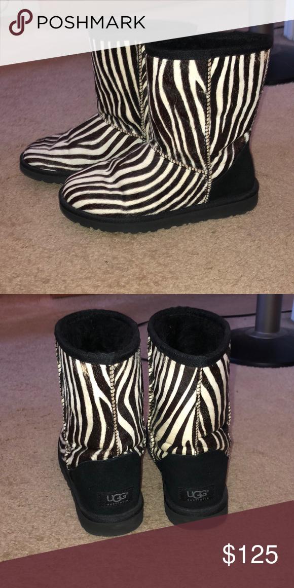 b6ff5676c09 UGG Australia Zebra Women's Short Boots Zebra print, size 6, mint ...