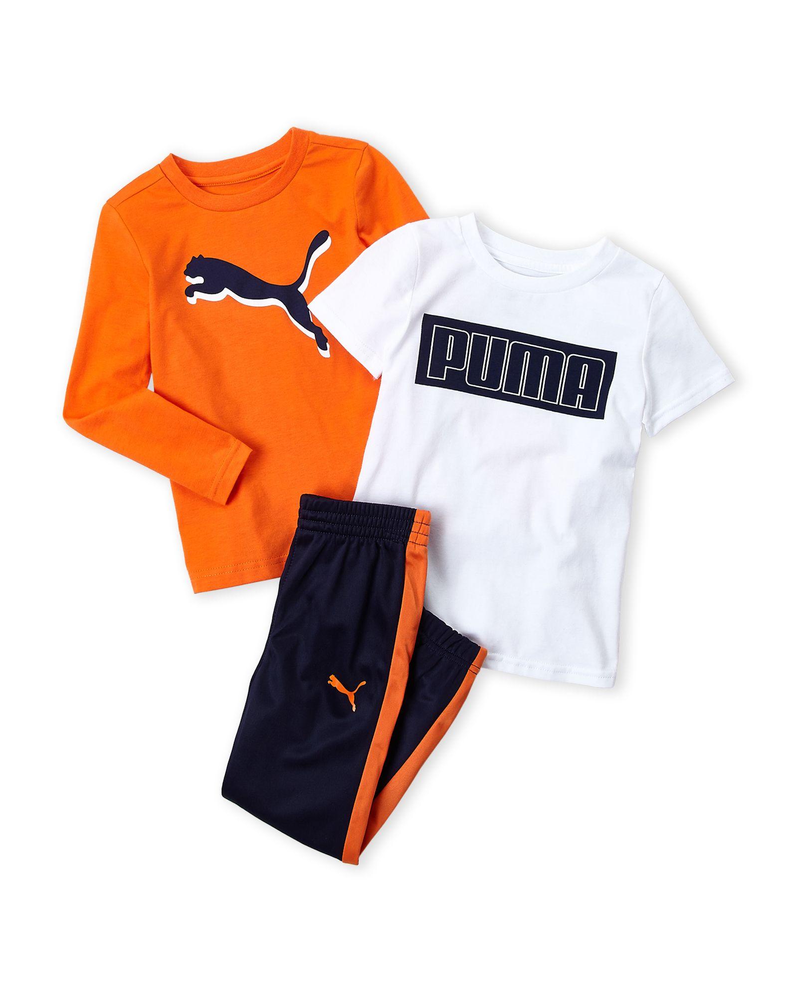 d761ac2700 Boys 4-7) 3-Piece Logo Long Sleeve Tee & Joggers Set   *Apparel ...