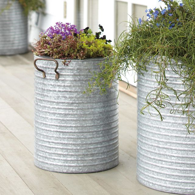 Gagalvanized steel flower containers google search farm stand galvanized steel planter contemporary outdoor planters other metro rejuvenation workwithnaturefo