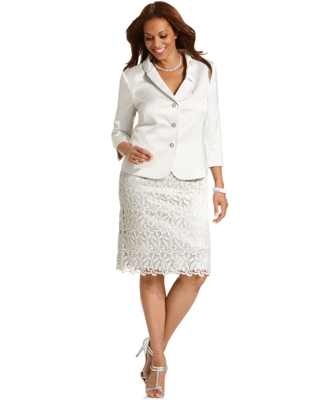 Mother Of The Bride Tahari By Asl Plus Size Skirt Suit Jacket