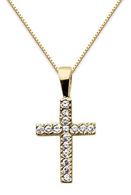Applesofgold half carat diamond cross necklace 14k yellow applesofgold half carat diamond cross necklace 14k yellow gold christian jewelry 99900 mozeypictures Gallery