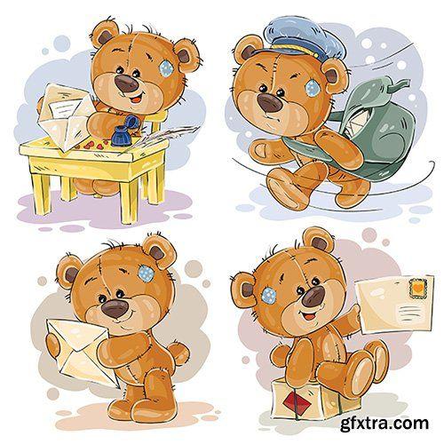 Clip Art Illustrations Of Teddy Bear Vector Photoshop Psdafter Effects Tutorials Template 3d Bear Illustration Bear Art Teddy Bear