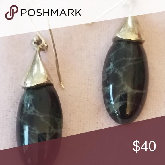 Best Black Marble Onyx Earrings Sterling Silver 925 Marbled 400 x 300