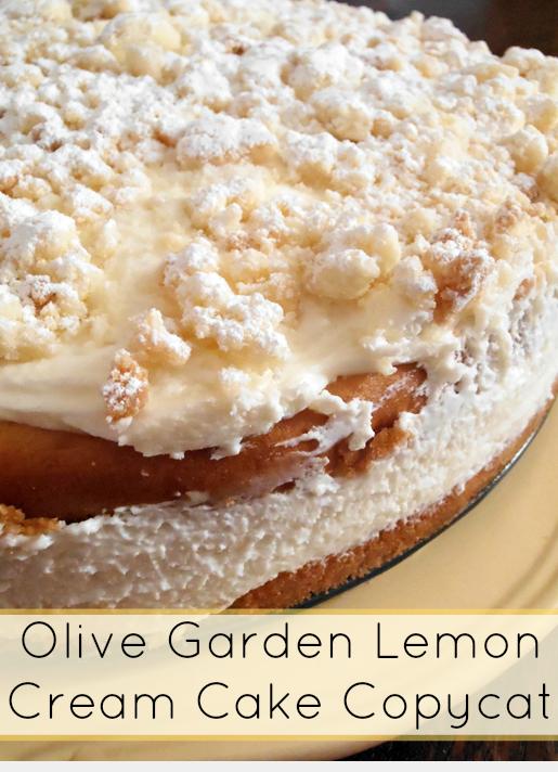 Olive garden lemon cream cake copycat recipe luscious - Olive garden lemon cream cake recipe ...