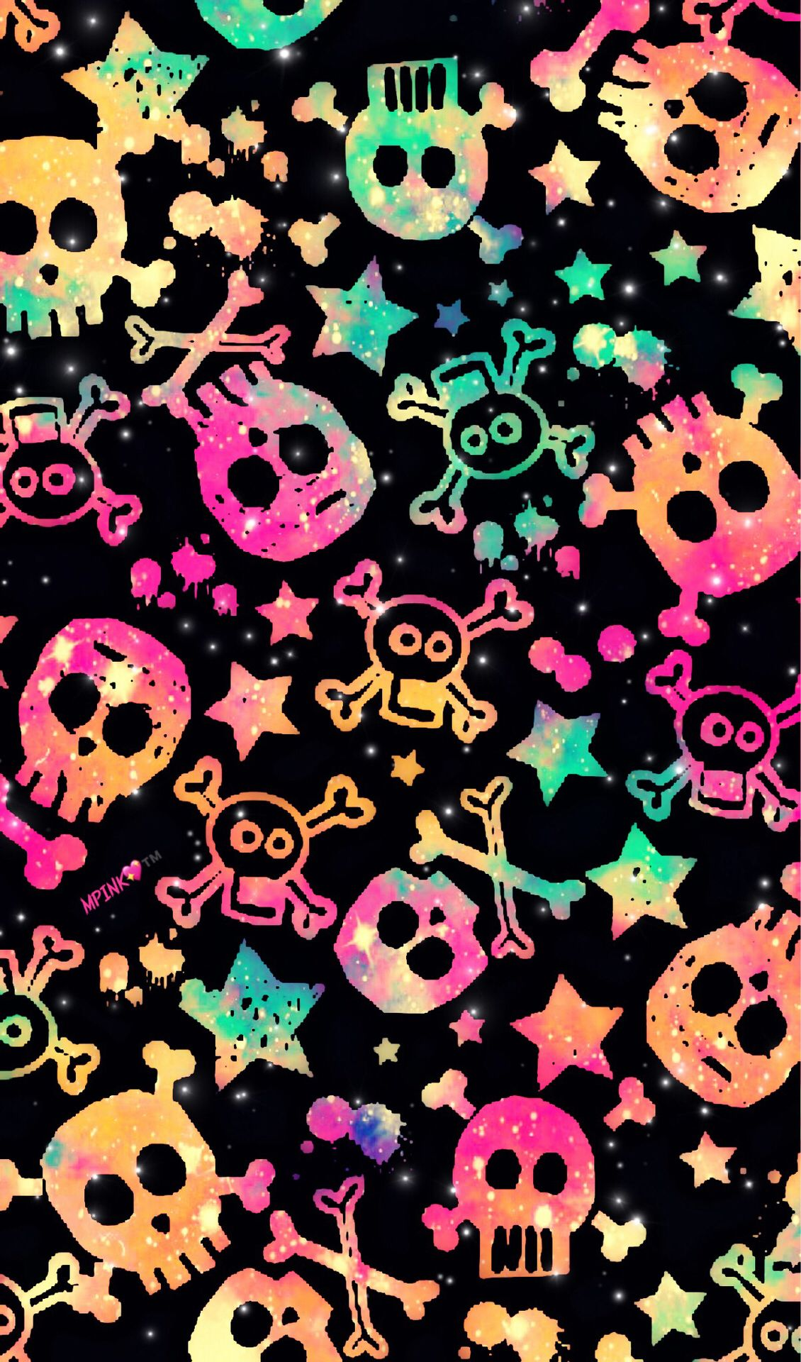 Punk Rock Galaxy Wallpaper Androidwallpaper Iphonewallpaper Wallpaper Galaxy Sparkle Glitter Lockscreen Skull Wallpaper Neon Wallpaper Galaxy Wallpaper