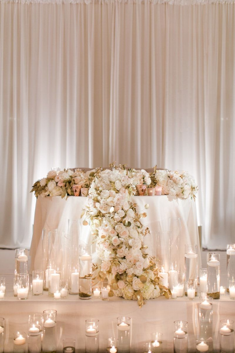 wedding reception at home ideas uk%0A romantic sweetheart table idea for wedding reception  candles  http   www