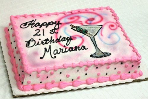 Awesome Related Image 21St Birthday Cakes 21St Birthday Martini Cake Personalised Birthday Cards Cominlily Jamesorg