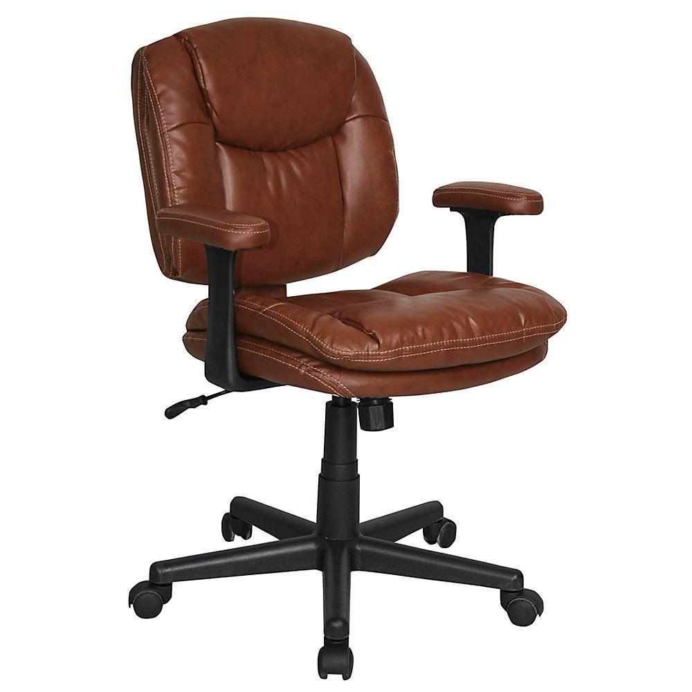 Dorra lowback task chair brown furniture chair