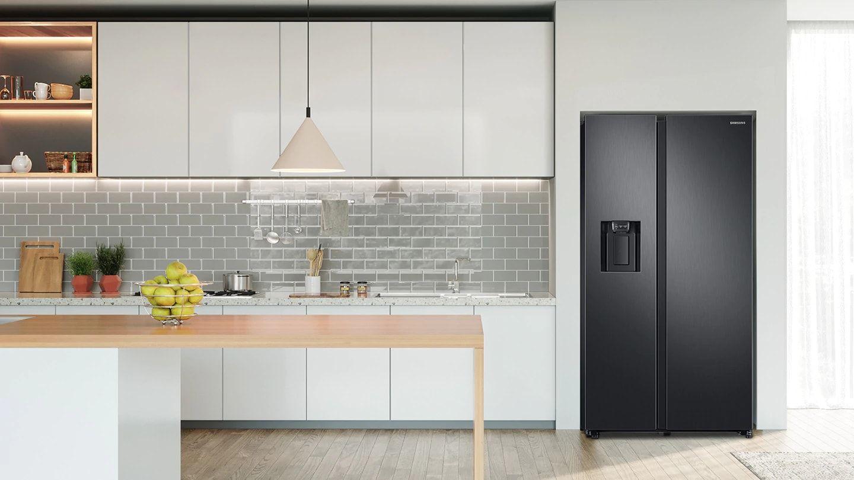 Lodowka Side By Side Rs68n8241b1 Ef Twin Cooling Plus Samsung Polska Samsung Kitchen American Style Fridge Freezer Kitchen Design