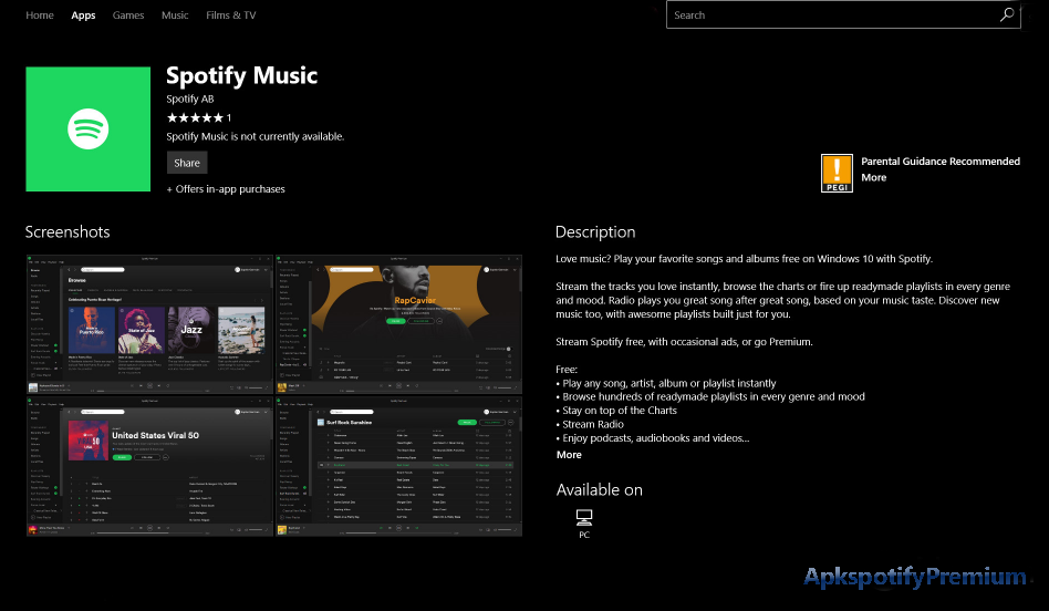 Spotify Premium APK for Windows (With images) | Spotify premium ...
