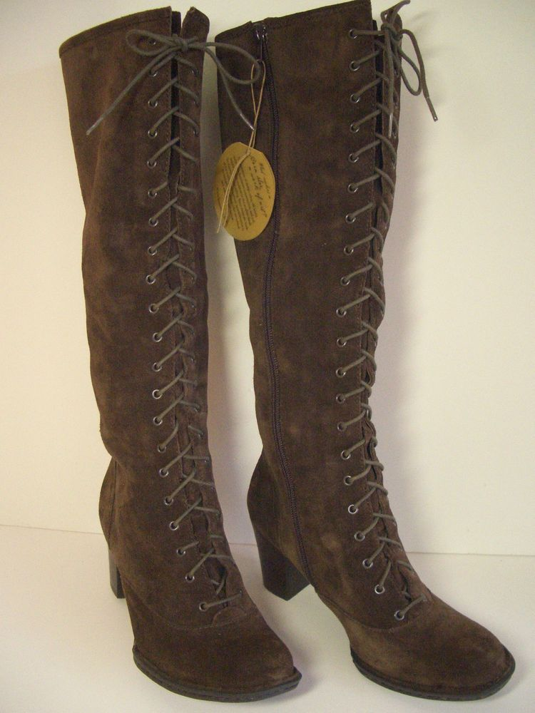 Born Suede Boots Tall Brown Leather