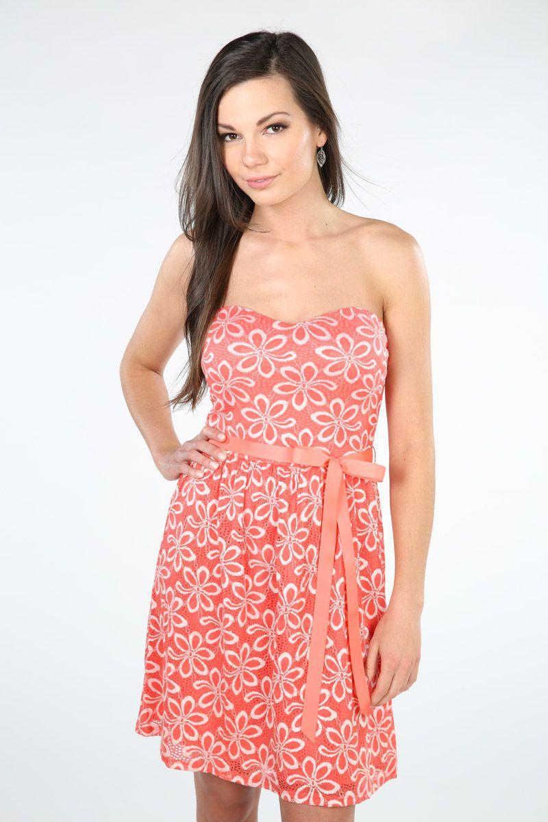 Two Tone Lace Strapless Dress | Wedding ideas! | Pinterest