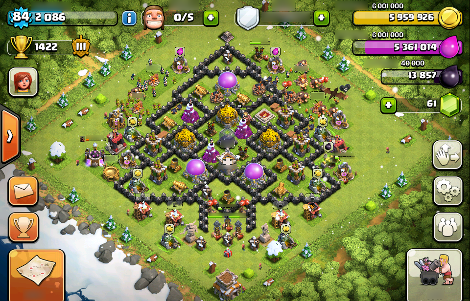 Merry Clashing Christmas Base Collection In Clash Of Clans 1