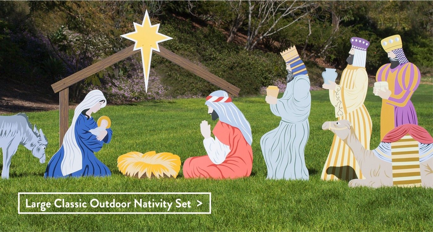 Outdoor nativity store awesome made in the usa outdoor for Outdoor christmas scenes