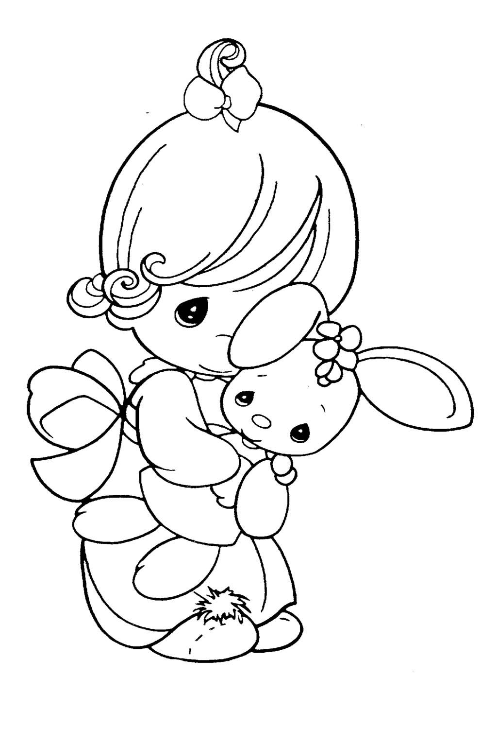 Precious Moments Coloring Pages Little Cuddle Doll For