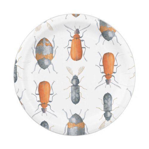 Safari Watercolor Bugs Pattern Paper Plate  sc 1 st  Pinterest & Safari Watercolor Bugs Pattern Paper Plate | Pattern paper and ...