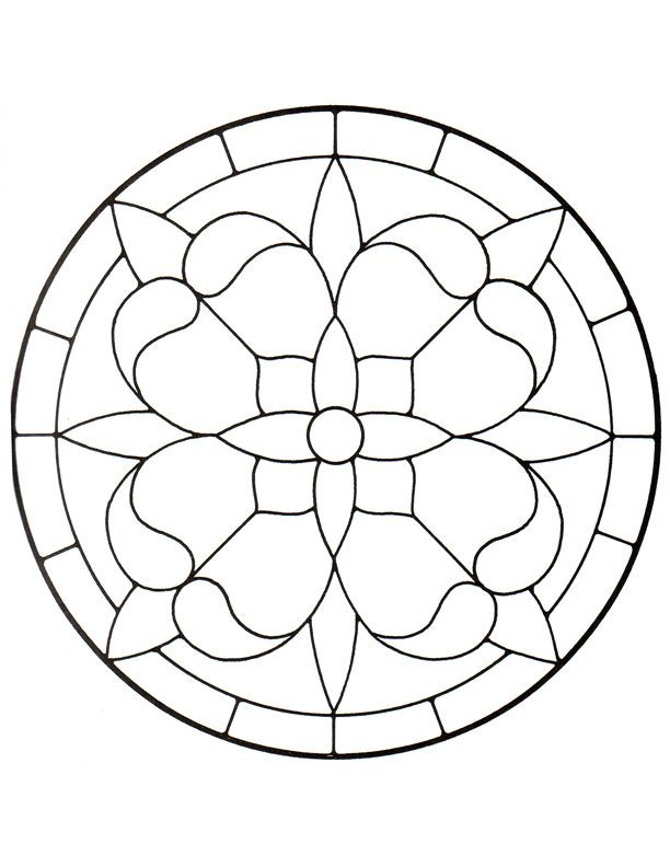Rose Window Stained Glass Pattern Google Search Stained Glass
