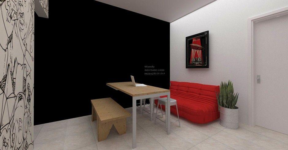 Projeto reforma Coletivo Imaginário Imagens 3D SketchUp+Vray