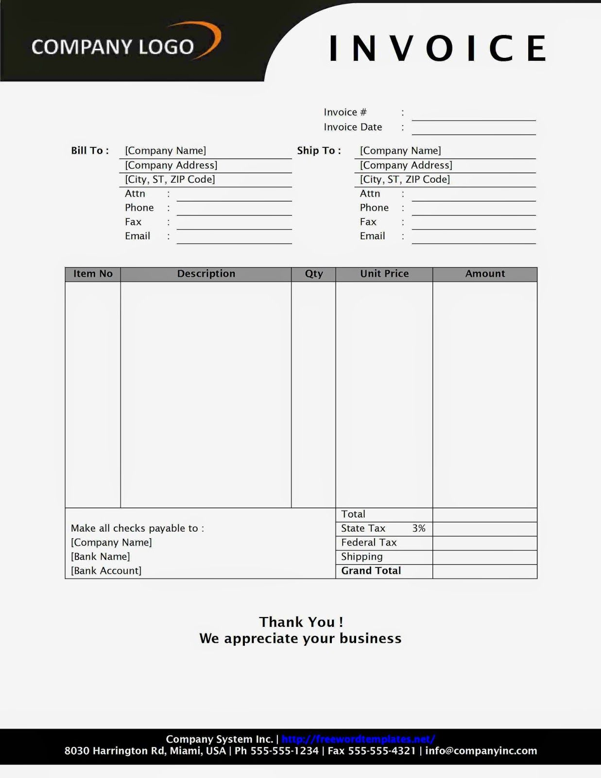 Sales Receipt Book Imprinted With Your Business Information Invoice Design Microsoft Word Invoice Template Invoice Template Word