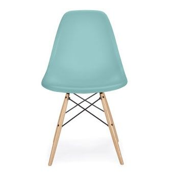 eames plastic chair aqua sky mint blue herman miller