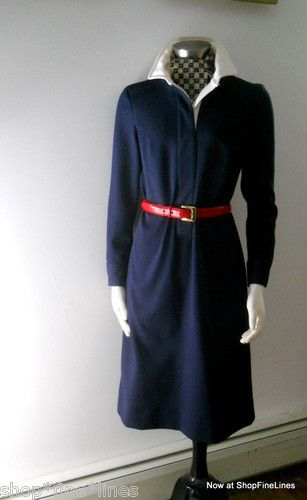 Back to mid 20th century basics - navy knit from Peck & Peck. Now on eBay