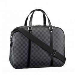 c851f89768f Louis Vuitton Damier Graphite Canvas Bag Black LV N48118