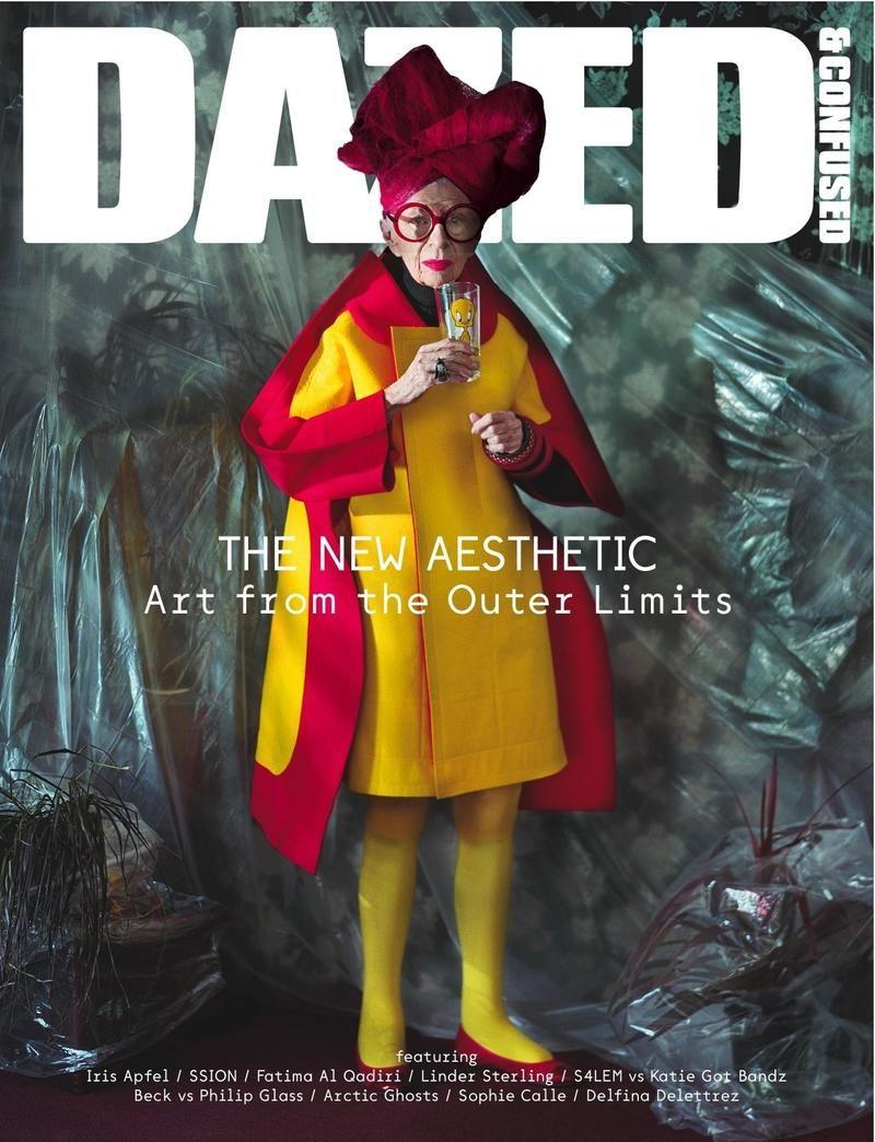 Iris Apfel wears Comme des Garçons in Dazed & Confused Cover, November 2012.