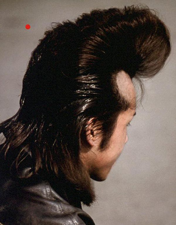 Extreme Rockabilly Pompadour Mens Hair Character Modern