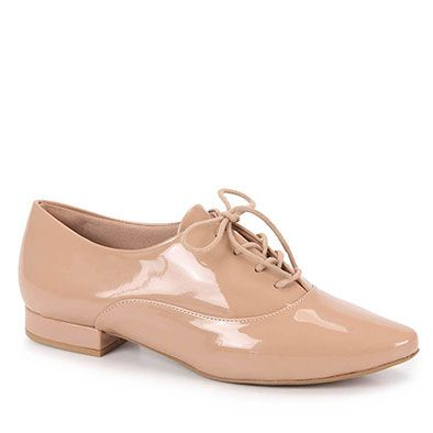 304fc744a0 Sapato Oxford Feminino Lara - Nude
