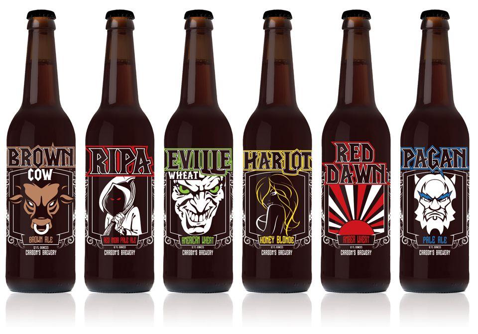Beer bottle label design images for Brewery design software