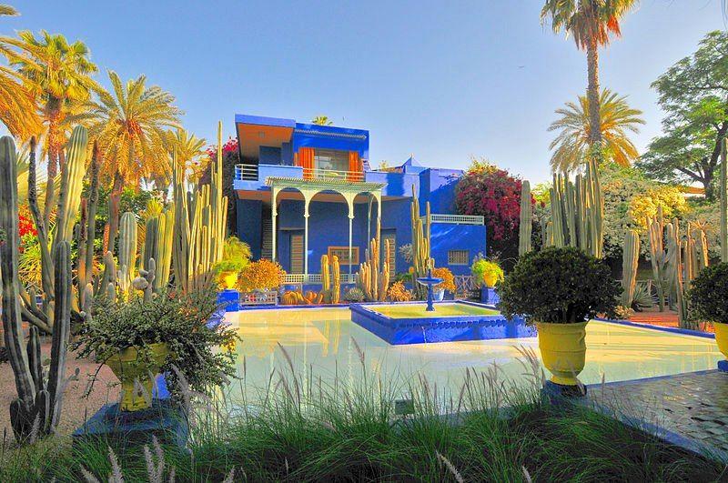 El Jardin Majorelle Marraquech Marruecos In The Garden And