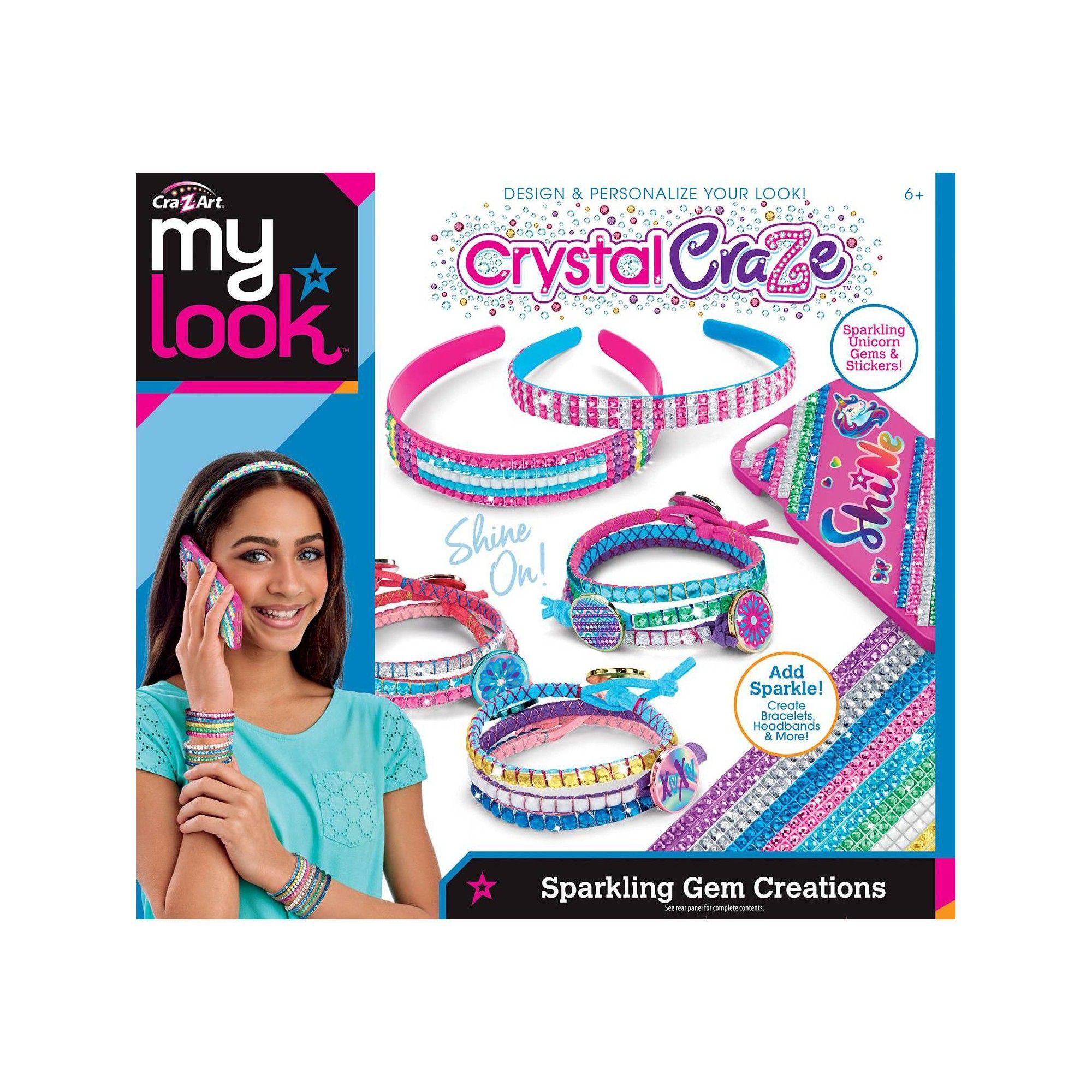 My Look Crystal Craze Sparkling Gem Creations By Cra Z Art Z Arts Pretty Headbands Stylish Stickers