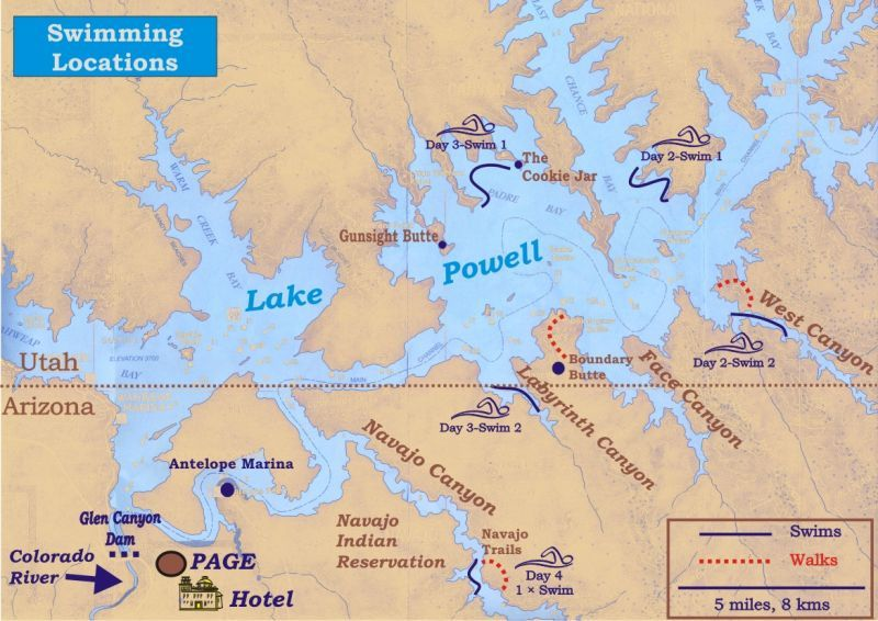map of lake powell | get out!!! | Pinterest | Lake powell, Adventure ...