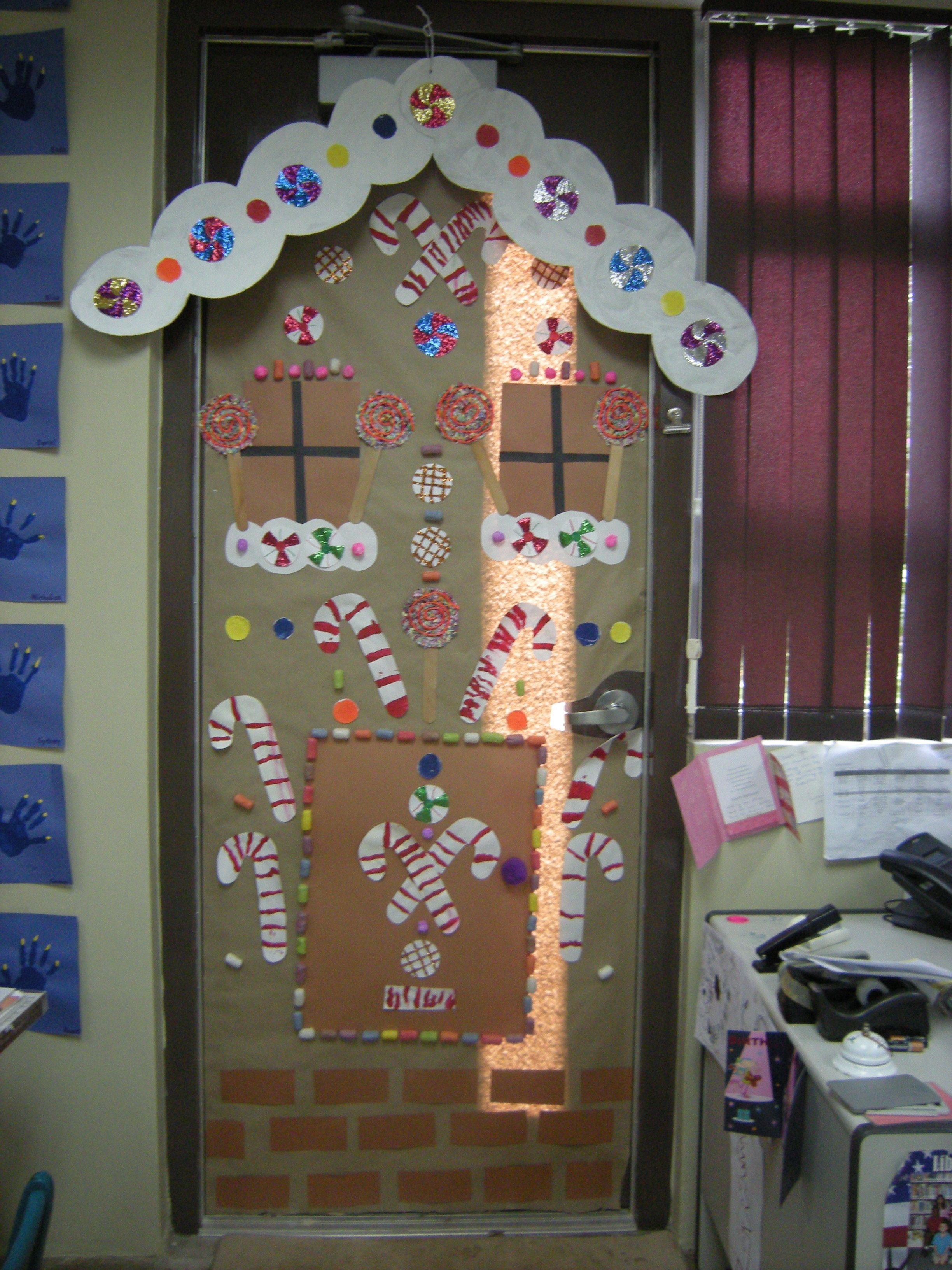Decorate Your Classroom Door With A Gingerbread House This