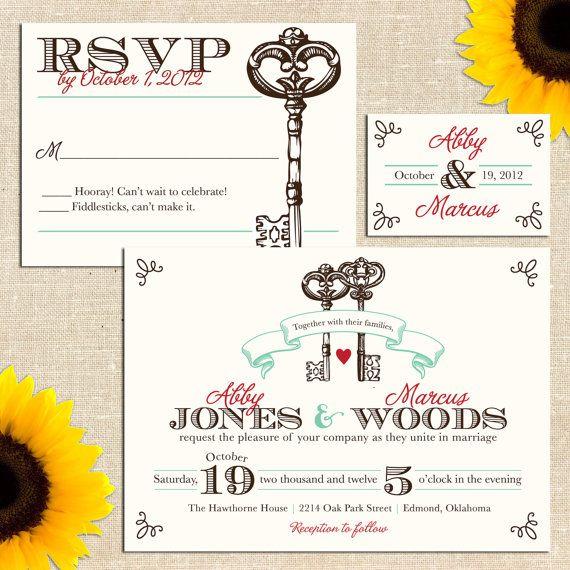 "Last Name Wedding Themes: Keys? My Last Name Means ""key."""