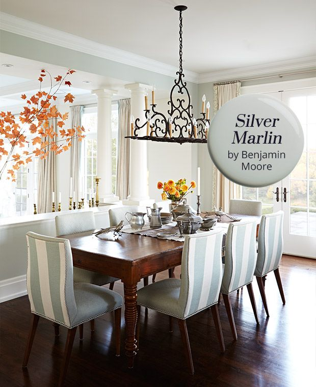 Sarah Richardson Dining Rooms: Silver Marlin By Benjamin Moore: Paint Color Pick